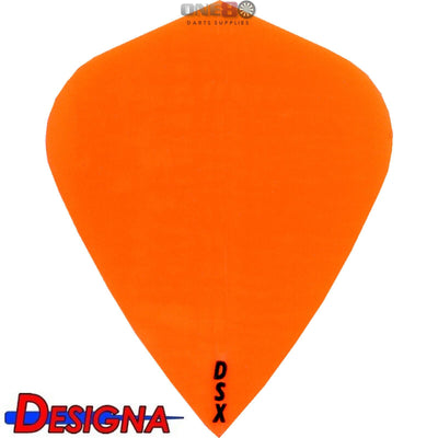 Dart Flights - Designa - DSX Plain Colour - Kite Dart Flights Orange