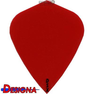 Dart Flights - Designa - DSX Plain Colour - Kite Dart Flights Red
