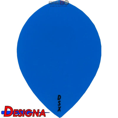 Dart Flights - Designa - DSX Plain Colour - Pear Dart Flights Blue
