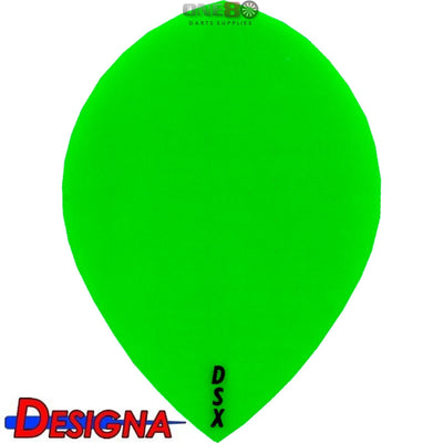 Dart Flights - Designa - DSX Plain Colour - Pear Dart Flights Green
