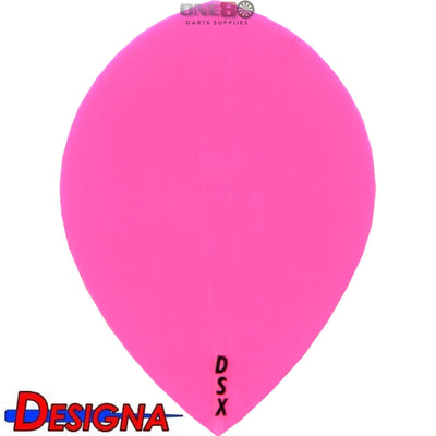 Dart Flights - Designa - DSX Plain Colour - Pear Dart Flights Pink