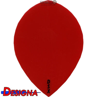 Dart Flights - Designa - DSX Plain Colour - Pear Dart Flights Red