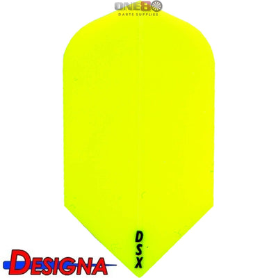 DESIGNA Darts - Flights - DSX Plain Colour Slim Flights - Yellow