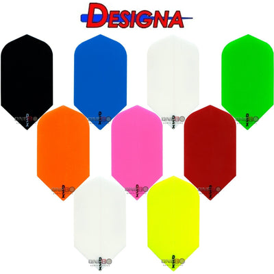 DESIGNA Darts - Flights - DSX Plain Colour Slim Flights -