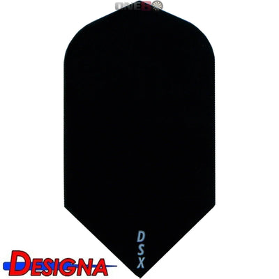 Dart Flights - Designa - DSX Plain Colour - Slim Dart Flights Black