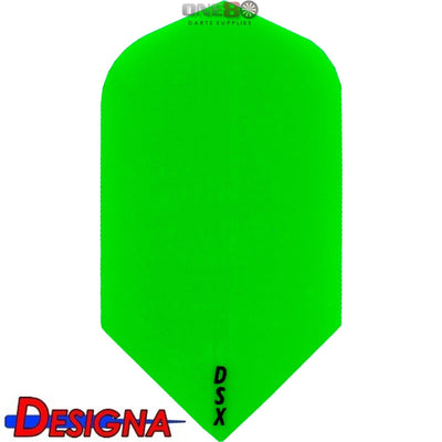 Dart Flights - Designa - DSX Plain Colour - Slim Dart Flights Green