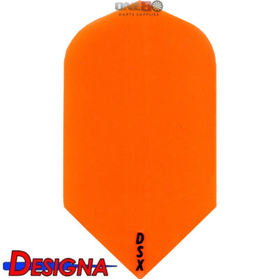Dart Flights - Designa - DSX Plain Colour - Slim Dart Flights Orange