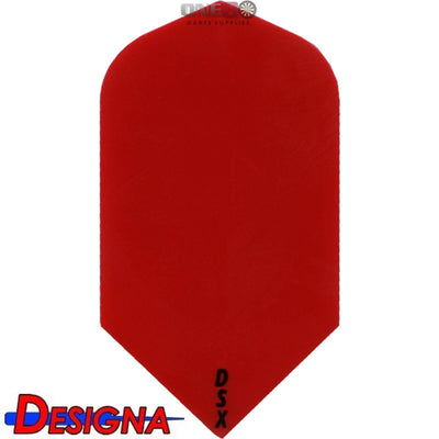 DESIGNA Darts - Flights - DSX Plain Colour Slim Flights - Red