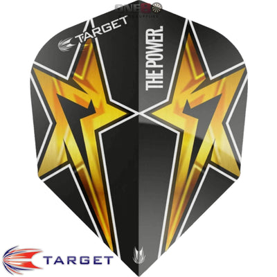 TARGET Darts - Flights - Phil Taylor Standard Power Flights - Power Star - Black