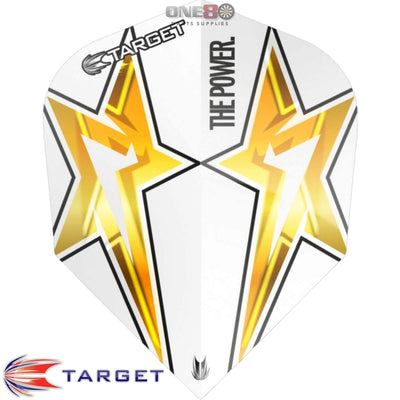 TARGET Darts - Flights - Phil Taylor Standard Power Flights - Power Star - White