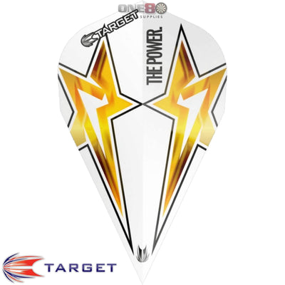 Dart Flights - Target - Phil Taylor Power - Vapor Dart Flights Power Star - White