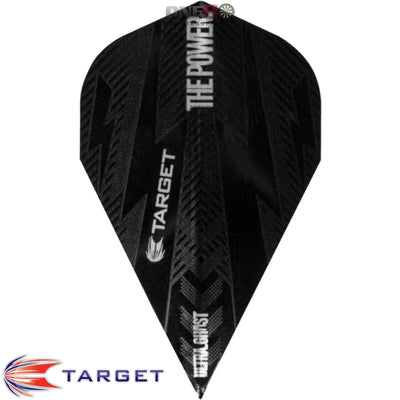 Dart Flights - Target - Phil Taylor Power - Vapor Dart Flights Power Bolt Ghost - Black