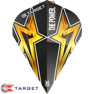 Dart Flights - Target - Phil Taylor Power - Vapor-S Dart Flights Power Star - Black