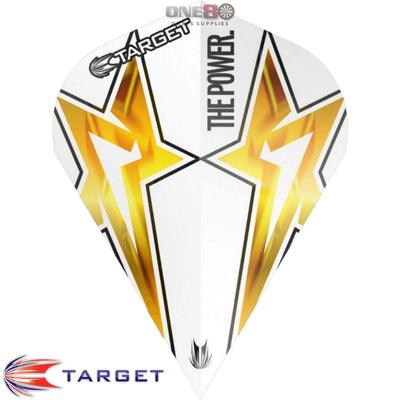 Dart Flights - Target - Phil Taylor Power - Vapor-S Dart Flights Power Star - White