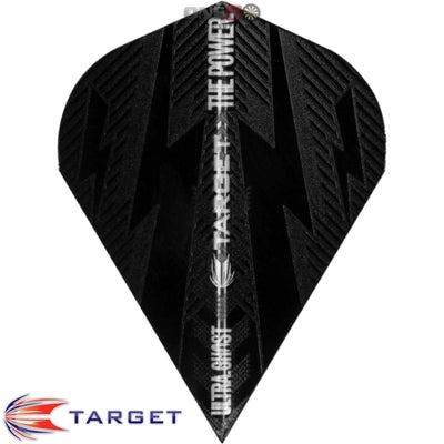 Dart Flights - Target - Phil Taylor Power - Vapor-S Dart Flights Power Bolt Ghost - Black