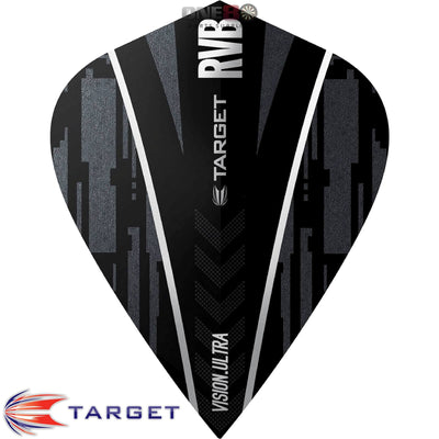 Dart Flights - Target - Raymond Van Barneveld RvB - Kite Dart Flights Ghost Black