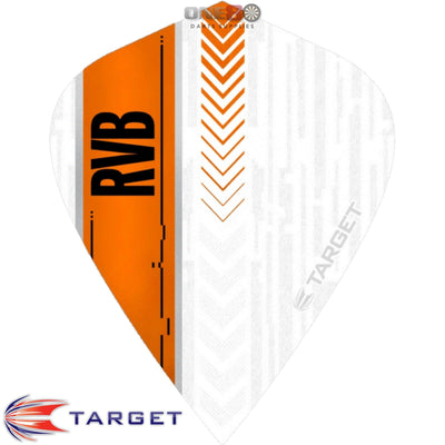 Dart Flights - Target - Raymond Van Barneveld RvB - Kite Dart Flights White