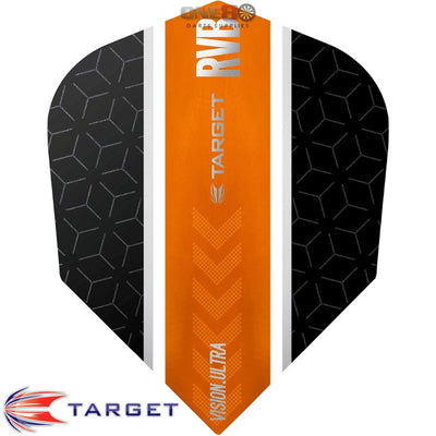 Dart Flights - Target - Raymond Van Barneveld RvB - Standard Dart Flights Straight Orange