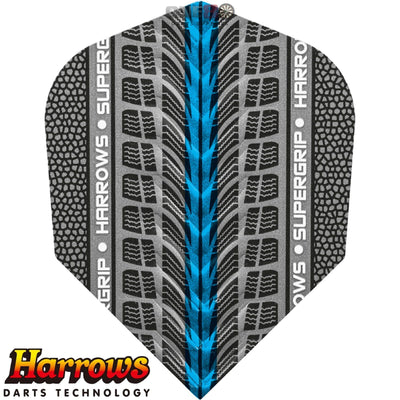 Dart Flights - Harrows - Supergrip - Standard Dart Flights Blue