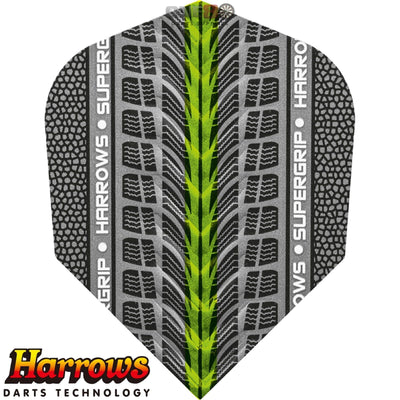 Dart Flights - Harrows - Supergrip - Standard Dart Flights Green