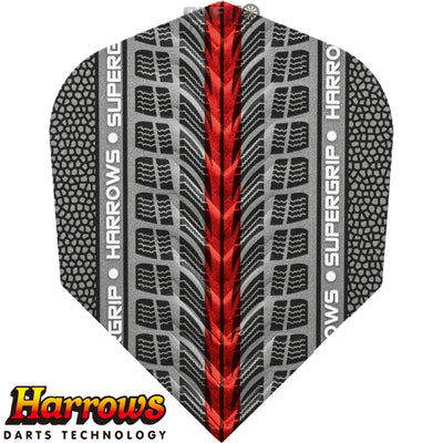 Dart Flights - Harrows - Supergrip - Standard Dart Flights Red