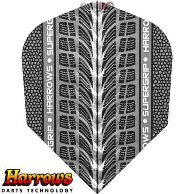 Dart Flights - Harrows - Supergrip - Standard Dart Flights Silver