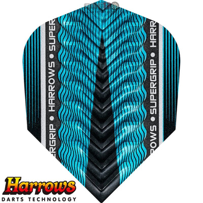 Dart Flights - Harrows - Supergrip-X - Standard Dart Flights Blue