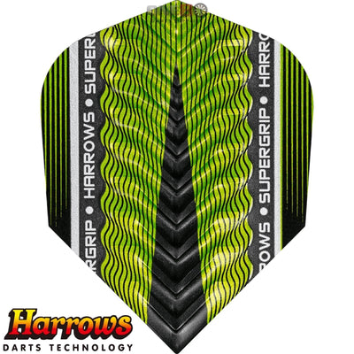 Dart Flights - Harrows - Supergrip-X - Standard Dart Flights Green