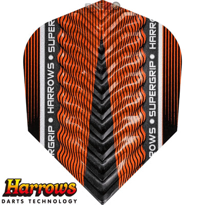 Dart Flights - Harrows - Supergrip-X - Standard Dart Flights Orange
