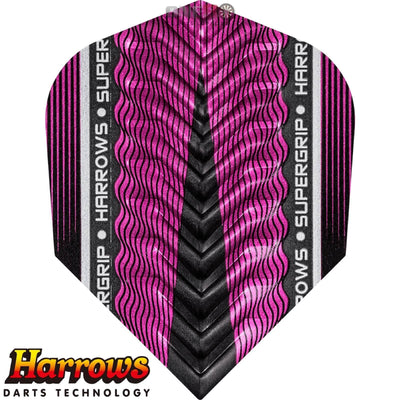 Dart Flights - Harrows - Supergrip-X - Standard Dart Flights Pink