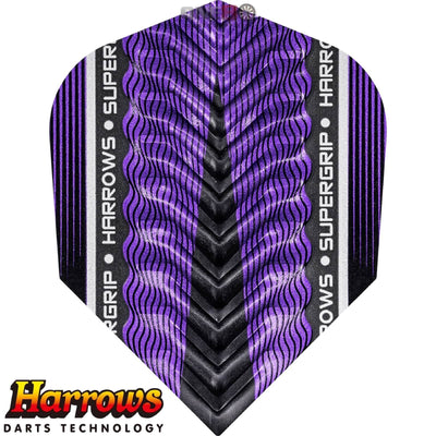HARROWS Darts - Flights - Supergrip-X Standard Flights - Purple