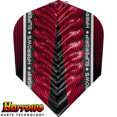 Dart Flights - Harrows - Supergrip-X - Standard Dart Flights Red