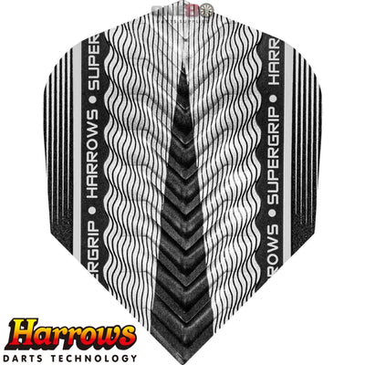 HARROWS Darts - Flights - Supergrip-X Standard Flights - Silver