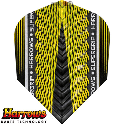 HARROWS Darts - Flights - Supergrip-X Standard Flights - Yellow