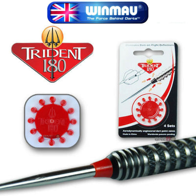 Point Accessories - Winmau - Trident 180 Dart Point Cones Red