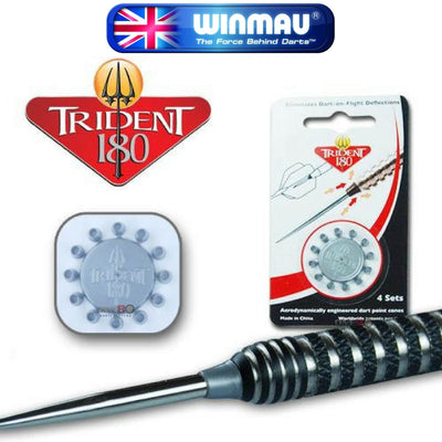 Point Accessories - Winmau - Trident 180 Dart Point Cones Silver
