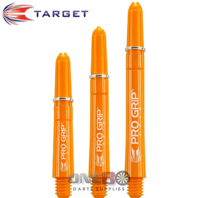 Dart Shafts - Target - Pro Grip Spin Polycarbonate Dart Shafts Short (34mm) / Orange