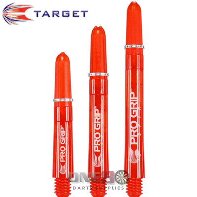 Dart Shafts - Target - Pro Grip Spin Polycarbonate Dart Shafts Short (34mm) / Red