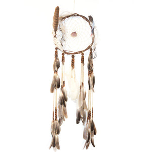 Dream Catcher #1 by Jaya featuring Amethyst and collected feathers