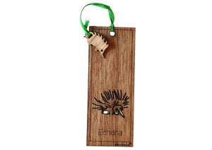 Wooden Bookmark - Echidna