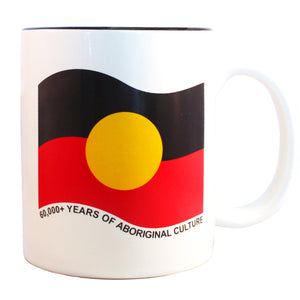 aboriginal flag ceramic mug