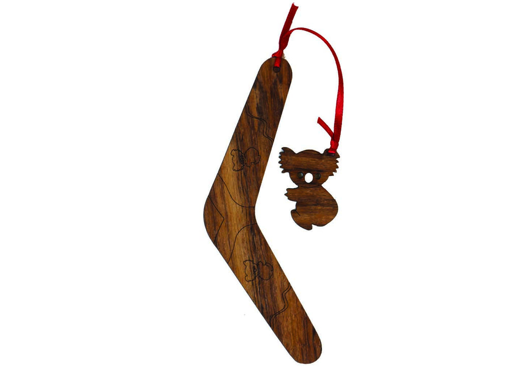 Buttonworks Koala & boomerang wooden bookmark