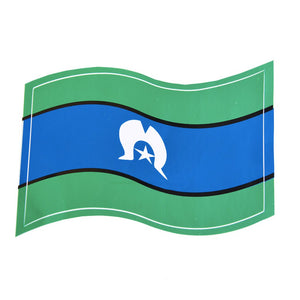 Torres Strait Islands flag Sticker - Wavy