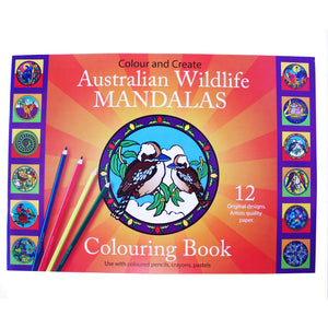 Australian wildlife mandala colouring book No 1