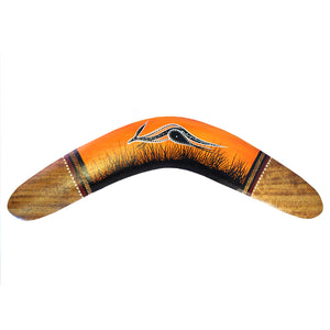 "12"" Painted Hunting Boomerang By John Rotumah - Kangaroo Sunset"