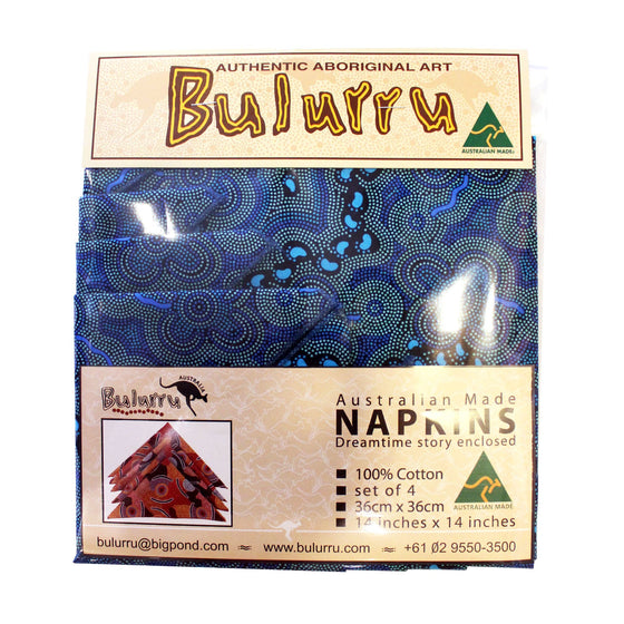 Napkins - Set of 4 - 8 different designs by Bulurru
