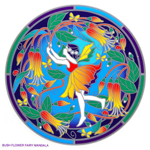Bush Flower Fairy Mandala - Sunseal Sticker