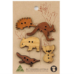 5 x Animal Buttons - Buttonworks