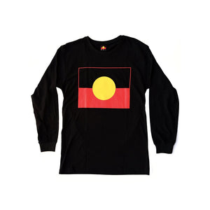 Aboriginal Flag Children's Long Sleeve T-shirt