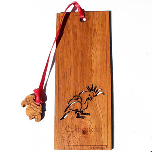 Wooden Bookmark - Cockatoo
